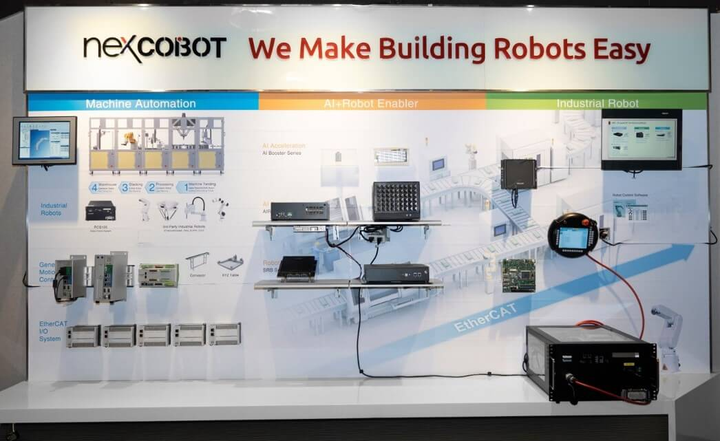 EtherCAT communication, robot control algorithms, human-machine interface, and AI acceleration